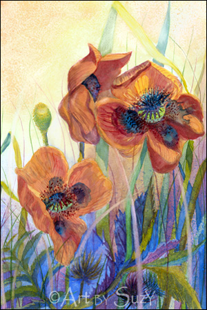 'Poppies' by Suzanne DesLauriers